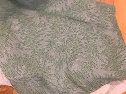 Jane Shelton green linen fabric | Etsy
