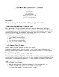 Management Summary Sample 12 Amazing Resume Example Recentresumescom