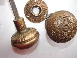 Robinsons Antique Hardware brass iron door knobs