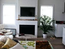 mount tv to brick fireplace bed room with white brick fireplace under wall mount stand among mount tv to brick fireplace