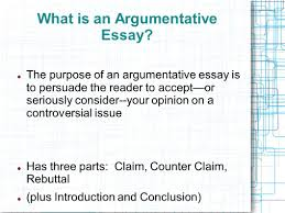 the argumentative essay introducing the counter argument and what is an argumentative essay