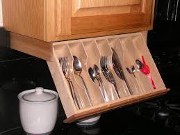 Under Cabinet Shelving Kitchen Under Cabinet Drawer Silverware Storage Flatware Organizer
