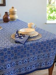 coffee table cloth starry nights batik blue designer block print tablecloth coffee print tablecloths
