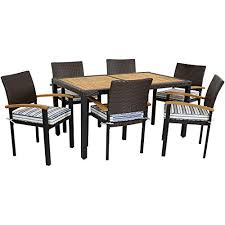 sunnydaze carlow outdoor dining set 7