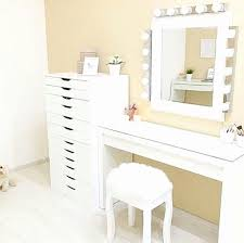 makeup table with drawers luxury ikea malm dressing table alex drawers vain