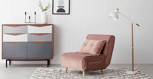 haru single sofa bed velvet vintage