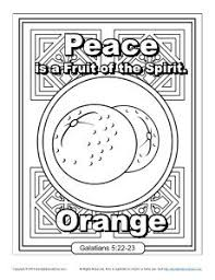 Fruit Of The Spirit For Kids Peace Coloring Page Childrens Bible