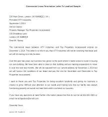 Sample Letter To Landlord To Terminate Lease Early Landlord Termination Of Lease Letter To Tenant Agreement Rental
