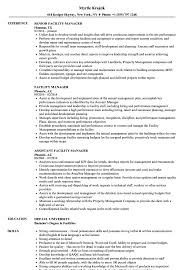 Facility Manager Resume Facility Manager Resume Samples Velvet Jobs 8