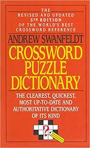crossword puzzle dictionary andrew swanfeldt 9780061000386 amazon books
