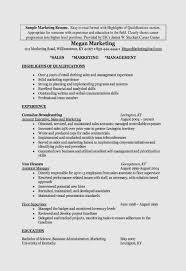 How To Write A College Student Resume With Examples Marketing