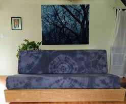 picture of easy diy couch cushion covers tie dyed