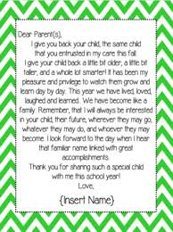 End Of The Year Teacher Letter To Students And Parents Tpt