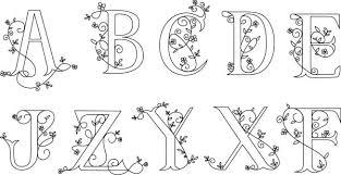 Letters In Design Flower Floral Alphabet Letters Design Free Vector Download