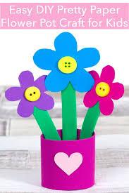 Paper Flower Pots Pretty Paper Flower Pot Craft Flower Pot Crafts Paper