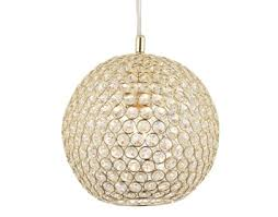 glass ball lighting. Endon Claudia 1 Light Ceiling Pendant, Brass Finish With Clear Crystal Glass  - 68991 Glass Ball Lighting A