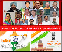 List Of Indian States And Their Capitals Governors Chief