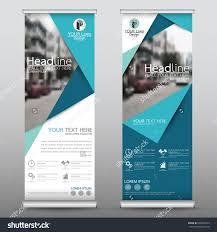Business Banner Design Blue Roll Up Business Brochure Flyer Banner Design Vertical Template