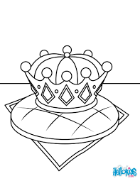 Kings cake and the lucky crown coloring pages - Hellokids.com