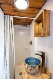tiny house bathrooms. Steel Bucket Sink In Tiny House Bathroom Bathrooms
