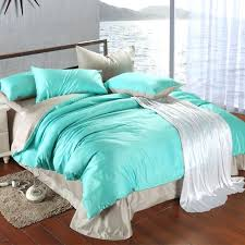 luxury bedding set king size blue green turquoise duvet cover grey sheets queen double bed in