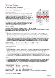 Catering Sales Manager Resume Food Beverages Example Sample