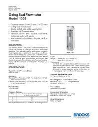 o ring seal flowmeter model 1305 brooks instrument pdf o ring seal flowmeter model 1305 1 8 pages