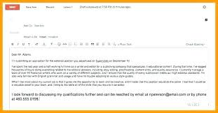 Job Application Email Cover Letter Attached Sample Email Cover