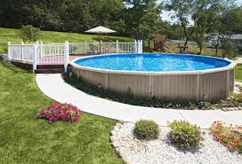 sunken above ground swimming pools. Beautiful Swimming SemiInground Pools Are Becoming Very Popular Many People Might Have A  High Water Table Rock Hillside Or Any Number Of Uncontrollable Factors Which  Throughout Sunken Above Ground Swimming Pools N