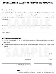 Car Payment Agreement Contract Template Plan Installment Used – Konfor