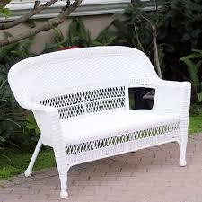 fine furniture jeco white wicker patio furniture love seat on
