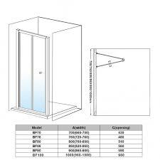 elegant shower enclosure bi fold doors 5mm gl cubicle 6 sizes