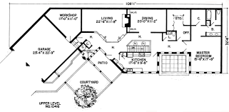 First Floor Plan Of Contemporary Earth Sheltered S Retro House Earth Shelter Underground Floor Plans