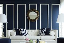 exterior: Opulent Concept Of Living Room Decor With Navy Room Decor Of Wall  Paint Color