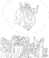 Small Picture Jesus Ascends to Heaven coloring page Free Printable Coloring Pages