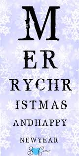 Pretty Lady Creativity Tis The Season Christmas Eye Chart