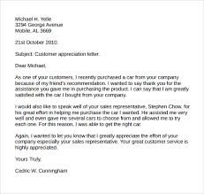 Thank You Letter To Customer Customer Thank You Letter Tirevi Fontanacountryinn Com