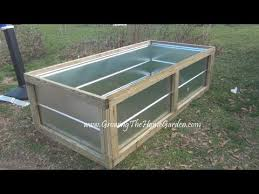building a metal raised bed for the