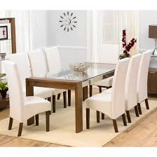 Glass top dining sets Oval Arturo Rectangle Walnut Glass Top Dining Table And Wng Chairs u2026 Love To Have For Home Dininu2026 Pinterest Arturo Rectangle Walnut Glass Top Dining Table And Wng Chairs