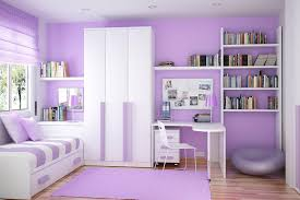 bedroom design purple. Modren Purple Fancy White And Purple Bedroom Interior Design Gor Girls With Bookcases For O