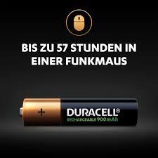 Wiederaufladbare <b>AAA</b> Batterien – <b>Duracell</b> Rechargeable 900mAh