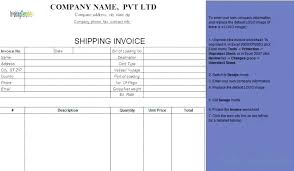 shipping info template shipment invoice 7 international shipping invoice template term free