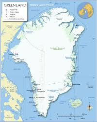 map of greenland  nations online project
