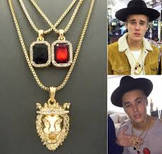 new mens rick ross style cz diamand faux lab red pendant necklace within ruby