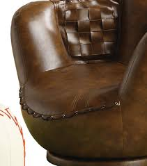 com crown mark baseball glove chair ottoman kitchen dining
