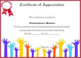 Certificate Of Appreciation Volunteer Work Download Volunteer Certificates The Right Way 19 Free Word