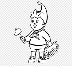 Free printable hulk coloring page for kids that you can print out and color. Noddy Big Ears Cartoon Drawing Coloring Book A Little Boy With A Hammer Television White Png Pngegg