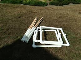 home made pvc targets lay flat for easy transport