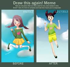 Draw this again meme: Jump / Fall by seleree on DeviantArt via Relatably.com