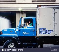 May 1982 New York The New York Times Delivery Truck Driver Stock